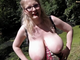 Casey deluxe Pissing in the Park iceporn big tits blonde fetish