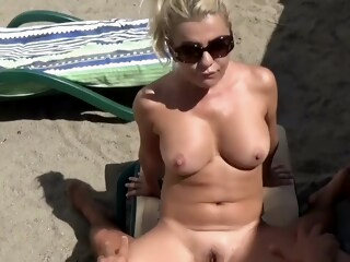 Hot Blonde with Big Tits Public Beach Fuck iceporn amateur beach big cock