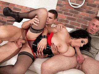 Three The Hard Way - Natasha Sweet, Dellon , and Max Dyor - Scoreland iceporn bbw big ass big tits